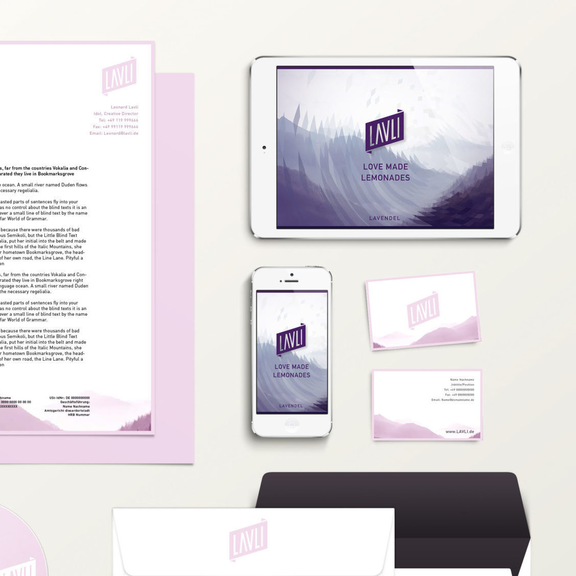 Branding Identity Mock Up Bright frontpage